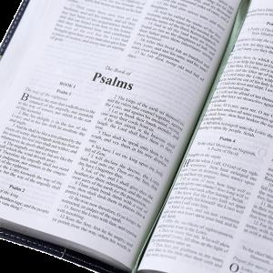 الكتاب المقدس باللغة الانجليزية المضغوط خط رفيع KJV - لون كحلي