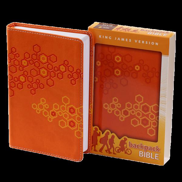 الكتاب المقدس باللغة الانجليزية لحقيبة الظهر KJV - لون برتقالي