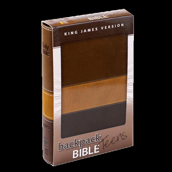 الكتاب المقدس باللغة الانجليزية لحقيبة الظهر للمراهقين KJV - لون بني