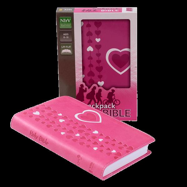 الكتاب المقدس باللغة الانجليزية لحقيبة الظهر NIrV - لون وردي