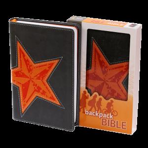الكتاب المقدس باللغة الانجليزية لحقيبة الظهر NIV - لون برتقالي ورمادي