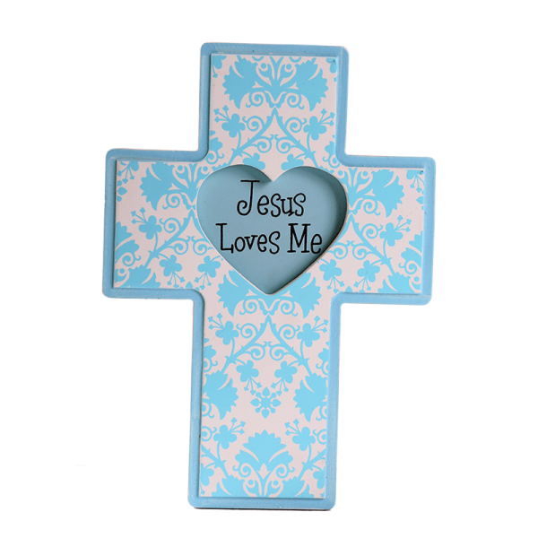 صليب يسوع يحبني ( ازرق )