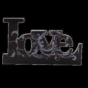 لوحة خشبية مع قاعدة ( المحبة )