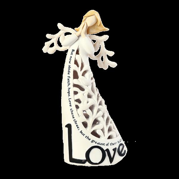 تمثال ملاك خزفي ( المحبة )