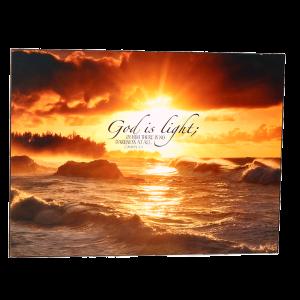 لوح خشبي ( الله هو النور )