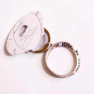 سلسلة مفاتيح معدنية (  دائرة الرجاء )