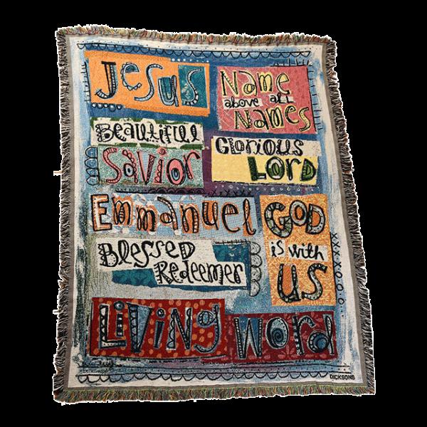 نسيج قماشي للديكور ( اسماء يسوع )